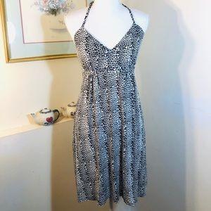 Express Halter Top Animal Print Dress Size Small